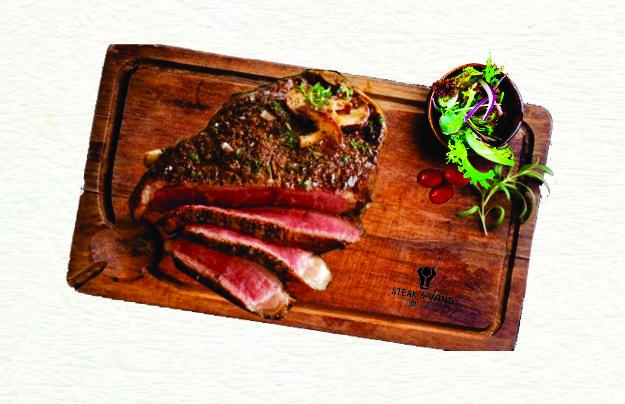 Sườn thăn ngoại bò kiểu New York ủ 30 ngày (Dry Aged Bone in New York Steak 30 days)